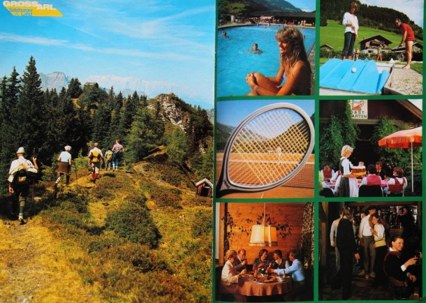 Prospekt aus den 80ern, linke Seite: Wanderung zum Remsteinkopf
