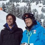 Roland Stieber von der Produktionsfirma Rostfilm mit Armin Assinger