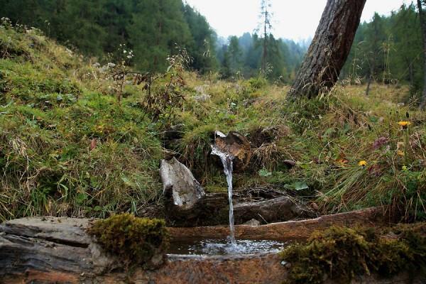 Brunnen nahe der Karteisalm