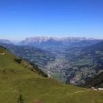 Blick vom Schober auf Tennalm und St. Johann-Alpendorf