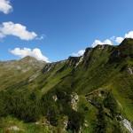 Während dem Abstieg der Blick zurück zum Schöderhorn