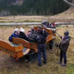 Interview und Jause auf der Kutsche von Steinmannbauer Willi Huttetgger