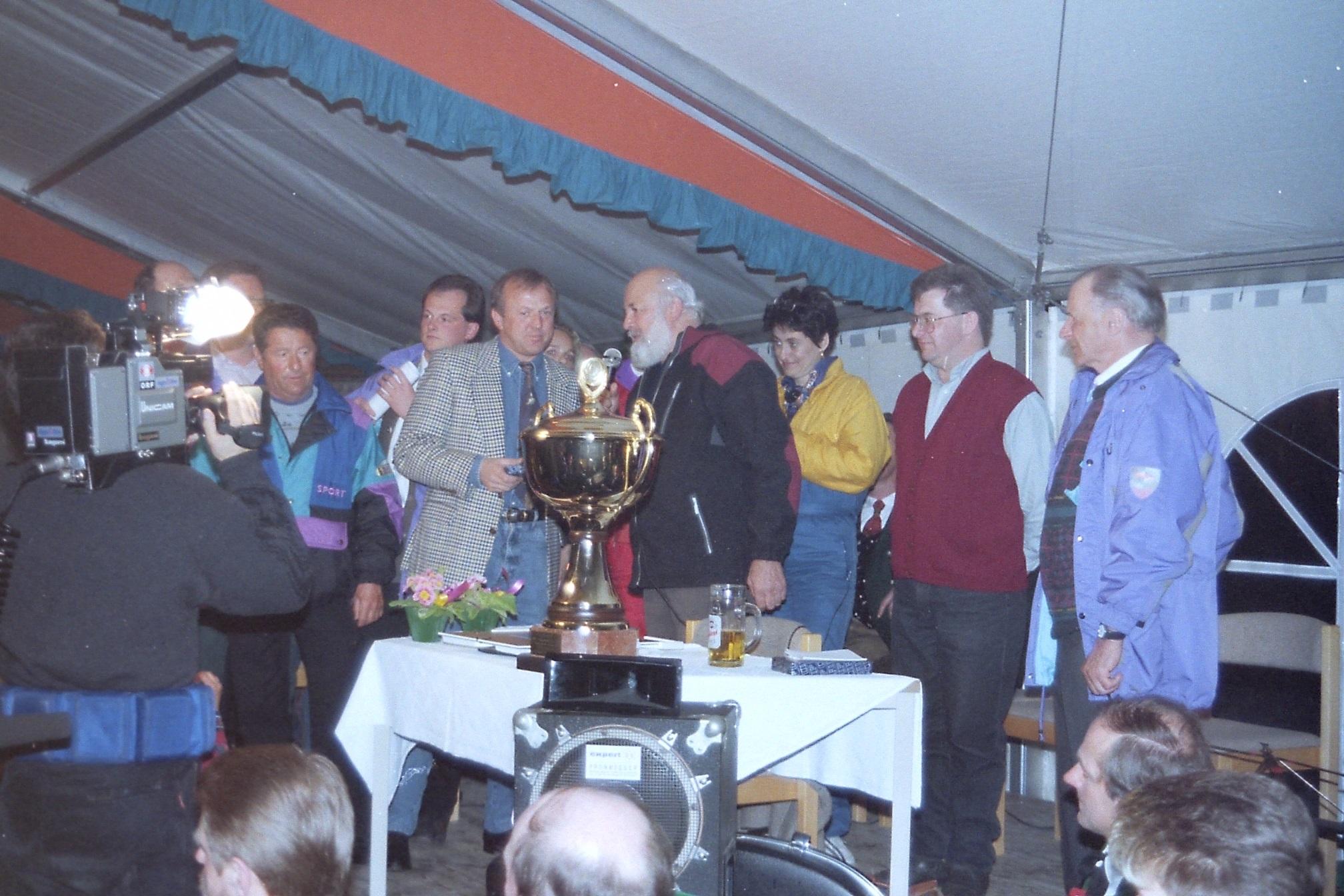 Siegerehrung beim ORF-Skigebietetest am 26. März 1995