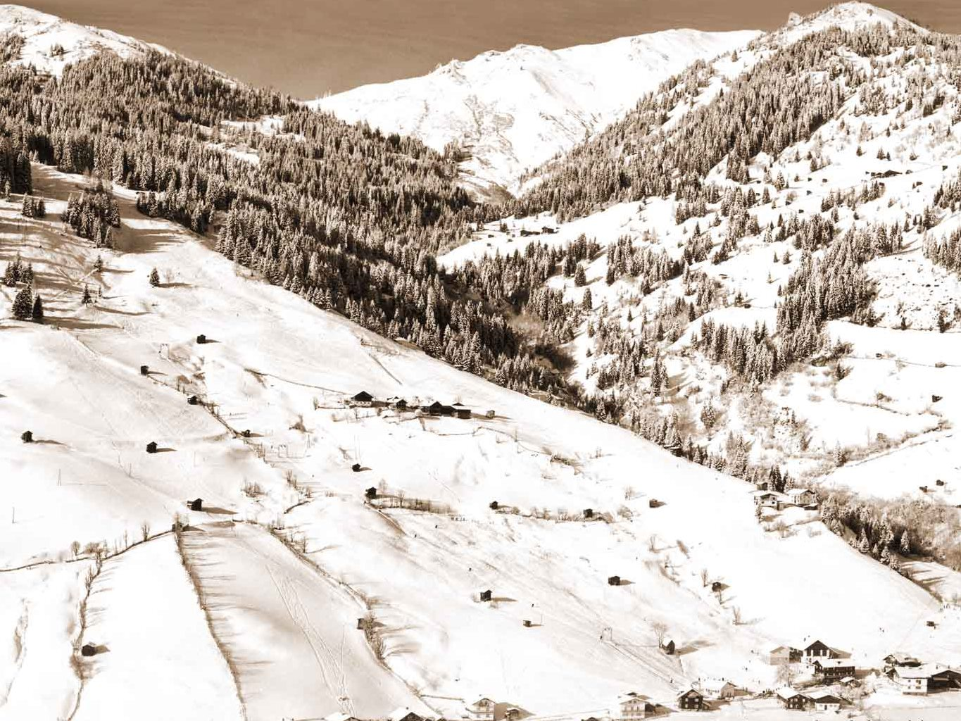 Skigebiet Großarltal Ende 1960 - Bild: Hubert Heigl, www.glasheigl.at