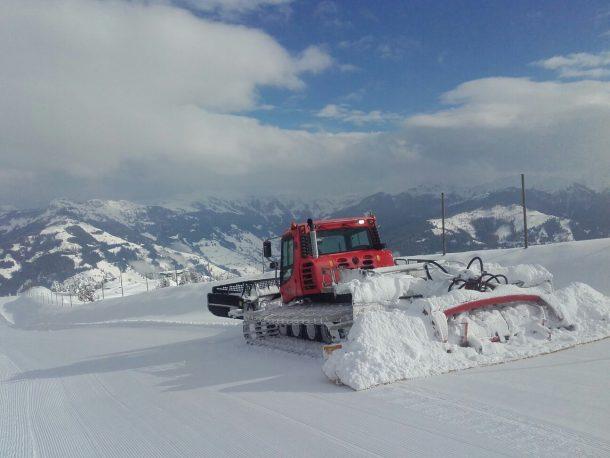 Fast nicht zu glauben, die Situation am Berg im Skigebiet Großarltal von heute 7. 11. 2017