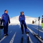 Sepp Gruber und Josef Hettegger begrüßen die Teilnehmer