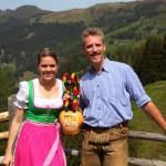 Christina Gschwandtner und Thomas Wirnsperger läuten den Almsommer ein