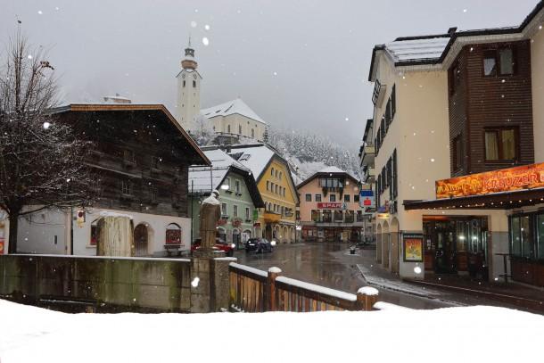 Der Marktplatz von Großarl vor wenigen Tagen