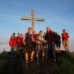 In der Morgensonne erstrahlt der Gipfel in besonderem Licht