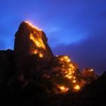 Berge in Flammen