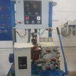 Spannhydraulikaggregat - diese Einrichtung reagiert auf die Lastsituation der Seilbahn und spannt (bei Volllast) oder entspannt (bei Leerbetrieb) das Förderseil
