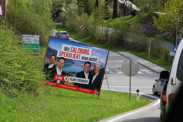 Landschaftsverschönerungsaktion der politischen Parteien