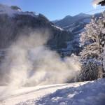 Talabfahrtsbeschneiung Bereich Hedegg - Foto: Gerhard Rettenwender/Bergbahnen