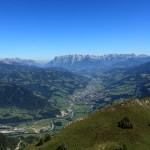 Blick vom Tennkogel auf St. Johann und das Salzachtal