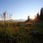 Sonnenuntergang an der Unterwandalm