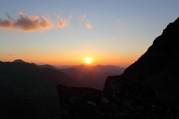 Sonnenuntergang an der Muritzenscharte