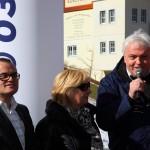 TVB-Obmann Franz Zraunig erklärt die Anlage für offiziell eröffnet.
