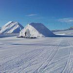 Großarltal, 1. Dezember 2017 - die Funslope für die Kinder ist zum Teil schon geöffnet. Der Snowpark Großarltal ist in Arbeit.