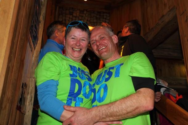 Unser erstes Lady-Skiwochen-Brautpaar Pia und Wolfgang