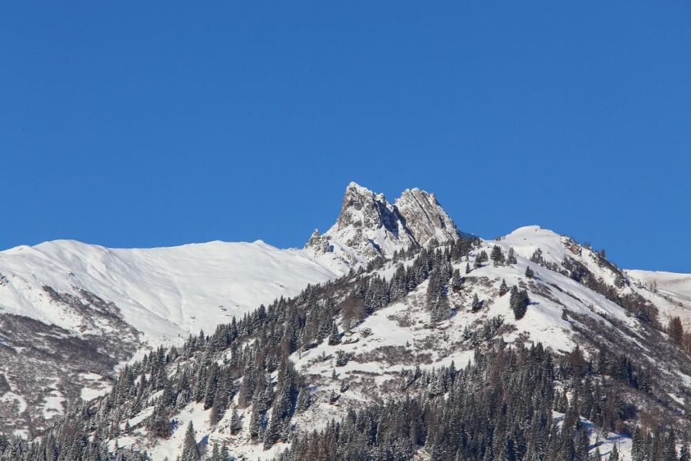 Wintermorgen Großarltal 28. November 2015 - Schuhflicker, der sagenumwobene Berg