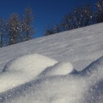 Herrlich glitzert der Schnee nach kalter Nacht.