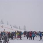 Kräftiger Schneefall an der Bergstation - so soll der Winter sein.