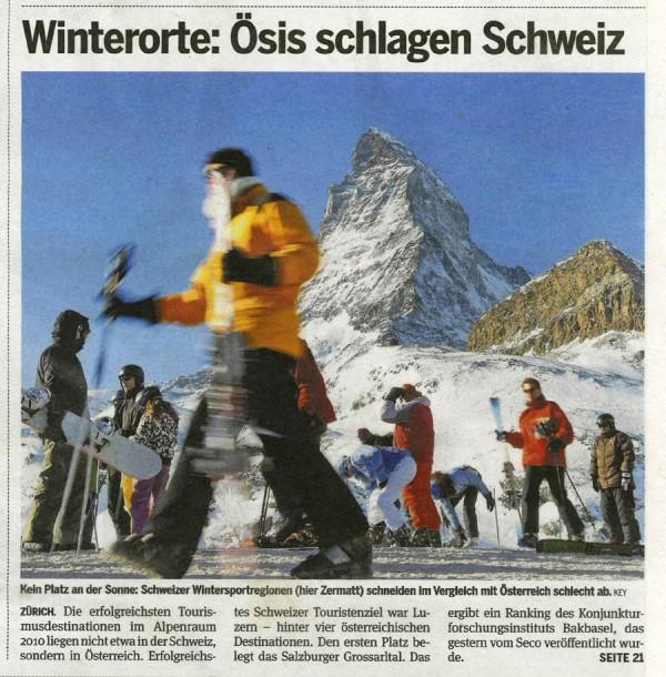 """Titelseite Zeitung """"20 Minuten"""", Zürich, 22. Dezember 2011"""