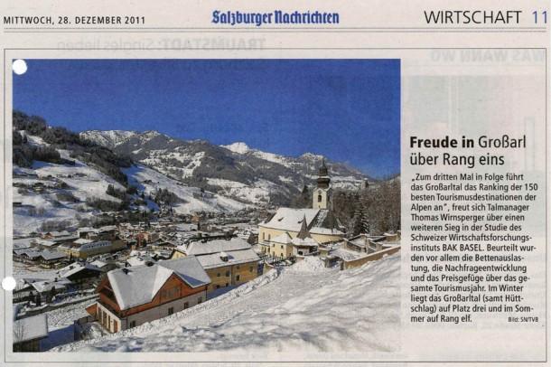 """Das stand in den """"Salzburger Nachrichten"""" vom 28. Dezember 2011"""