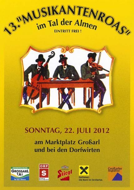 Einladung zur 13. Musikantenroas im Tal der Almen