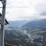 Aussicht von der Bergstation der Seilbahn auf das Salzachtal
