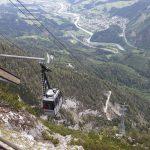 Blick von der Bergstation der Seilbahn