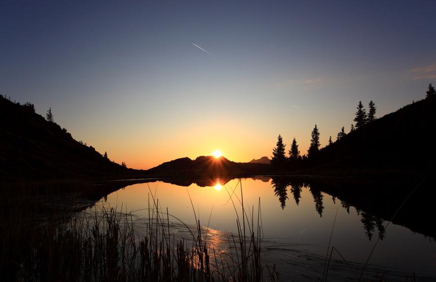 Sonnenuntergang bei den Trögen