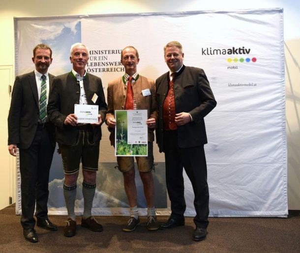 Klimaaktiv mobil Gemeinde Großarl bei der Auszeichnung