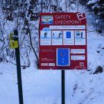 Ortovox Safety-Checkpoint beim Parkplatz Breitenebenalm