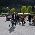 Johann Ganitzer (Vizebürgermeister Großarl) reist mit dem Rad an