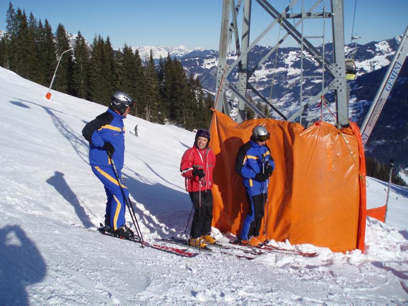Skigebiets-Sicherheitscheck Großarltal 2008 mit Betriebsleiter, Pistenchef und dem renommierten Seilbahnrechtsexperten Dr. Helmut Lamprecht