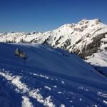 Auf dem Weg zur Skiroute 11