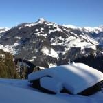 Kleine Hütte entlang der Skiroute 11