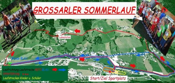 Streckenverlauf beim Sommerlauf