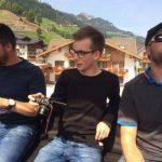 vlnr Josef, ich (Johannes) und Felix