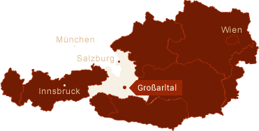 Location of the Großarl valley