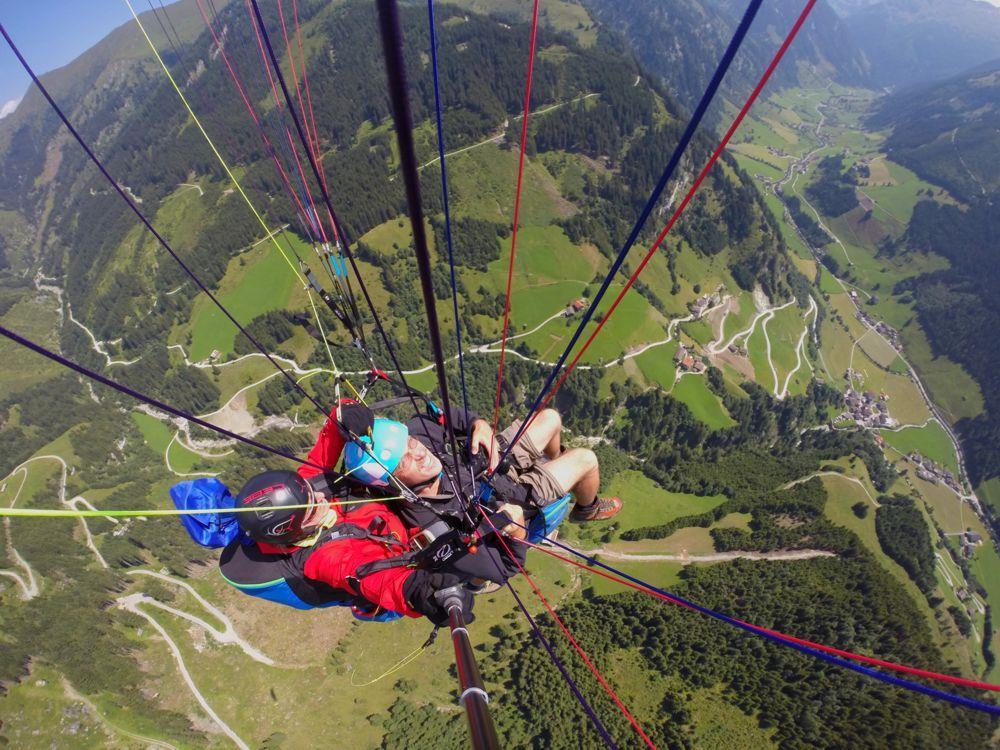 berg_gesund_gleitschirm_tandemflug, Großarl