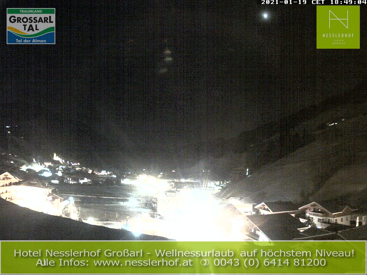 Grossarl webcam - bottom ski station Hohcbrand